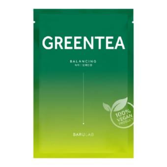 The Clean Vegan Greentea bőrkiegyenlítő  fátyolmaszk zöldteakivonattal