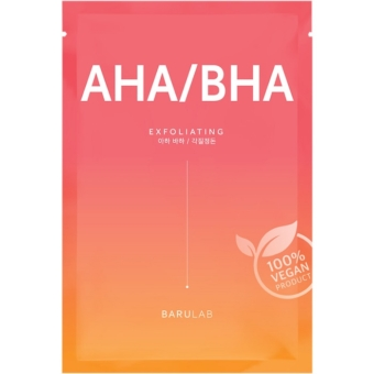 The Clean Vegan AHA/BHA hámlasztó fátyolmaszk