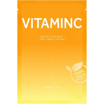 The Clean Vegan Vitamin C ragyogást fokozó fátyolmaszk