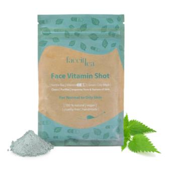 FaceIt Tea Vitamin Shot zöldagyagos maszk