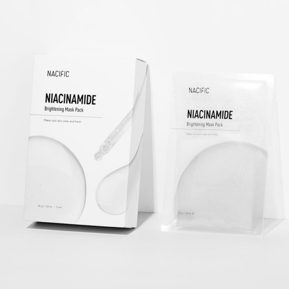 Nacific Niacinamide Brightening ragyogást fokozó maszk niacinamiddal